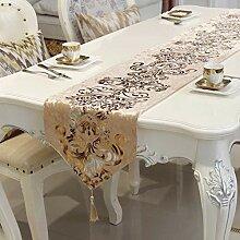 Bronze Tischläufer, Gold Samt, Handgemachte