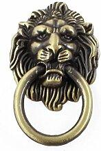 Bronze Tone Lion Head Form Antik Stil Schrank Pull