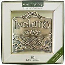 Bronze versilberte Wandtafel mit Irland und