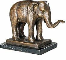 Bronzeskulptur Elefant Afrika Figur Skulptur