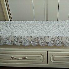 Bronzing dicke Plane TV-Schrank Staub Tuch pad cover Tuch schuh Kühlschrank Nachttisch Matten, 83 Silber, 49 * 250 cm.