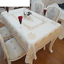 Bronzing,PVC,Wasserdicht,Anti-Öl-tischdecke/Teetisch Matten/No-wash Tischdecke/Europäisch,Plastiktisch/Rechteckiger Tisch Mat-F 137x180cm(54x71inch)