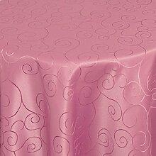 Bronzino Tischdecke Oval Altrosa 130 x 220 cm Ornamente Form, Farbe & Größe wählbar