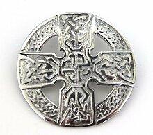 Brosche Schottisches Keltisches Kreuz aus