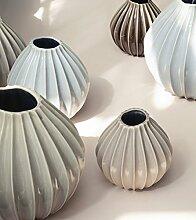 broste Copenhagen Vase WIDE M - Rainy Day (helles