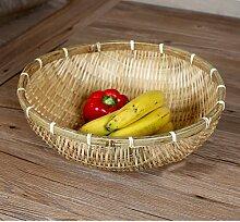 Brot behälter aufbewahrungs korb,Bambus obst korb schüssel stand kompott für unterhaltung veranstaltungen anzeigen-D D15*H4.7inch(38*12cm)