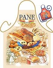 Brot Motiv Kochschürze Italien italienische