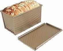 Brotbackform Brot Backblech mit Deckel Rechteckig