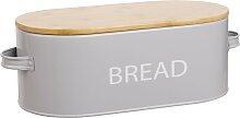 Brotbox aus grauem Stahl