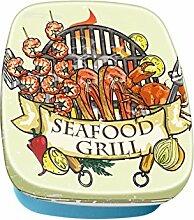 Brotdose Lunchbox Essen Restaurant Seafood Grill bedruck