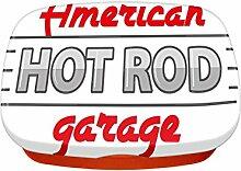 Brotdose Lunchbox Oldtimer Auto Amerikanische Garage bedruck