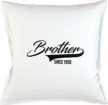Brother Since 1990 Family Gift Kissenbezug Fall Sofa Bed Home Dekor Kissen Weiß