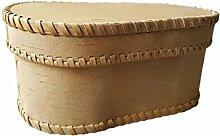 Brotkasten Holz Brotdose Birkenrinde 28x13cm