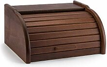 BROTKASTEN Holz Brotkorb Brotbox ROLLBROTKASTEN