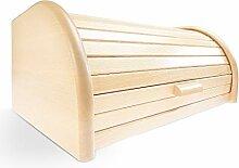 Brotkasten Holz groß mit Rolldeckel - Made in
