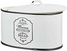 Brotkasten Keramik Weiß Schwarz Oval Brotdose