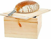 Brotkasten Zirbenholz, Innenseite des Deckels kann