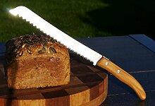 Brotmesser Laguiole von Claude Dozorme, Olivenholz