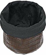 Brottasche Kaiman, 15x12cm (DxH), braun / schwarz, 1 Stück
