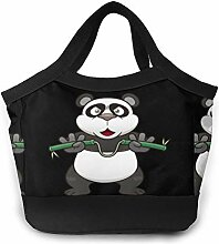 Brottasche mit Cartoon-Motiv Panda, für Herren,