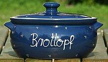 Brottopf / Brotkasten / Brotbox Blau /
