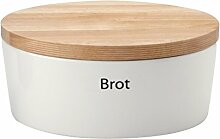 Brottopf oval mit Holzdeckel, Mittel