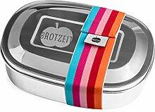 Brotzeit 16x12x4cm Edelstahl Brotdose Duo