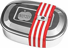 Brotzeit Lunchbox mit Unterteilung aus Edelstahl -