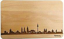 Brotzeitbrett Nürnberg Skyline |