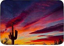 BROWCIN Badematten Arizona Saguaro Kaktus