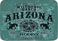 BROWCIN Badematten Arizona Wildpferd Rodeo Grunge