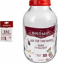 Browin 133509_810600 Glas für Liköre 5 L, mit