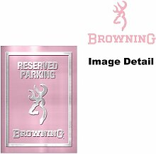Browning Arme Company weiß silber Buckmark Marke Camo Logo Pink Girly Muster Garage Home Office Outdoor Dose Parken Schild