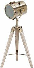 BRUBAKER Stehlampe Industrial Design Tripod Lampe