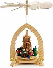 Brubaker Weihnachtspyramide aus Holz - Kachelofen