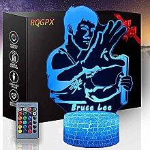 Bruce Lee Optische Illusion 3D-Lampe,