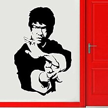 Bruce Lee Wand Vinyl Aufkleber Filmschauspieler