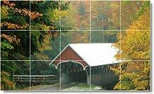 Brücke Bild Badezimmer Fliesen Wand B036. 91,4x 152,4cm mit (15) 12x 12Keramik Fliesen.