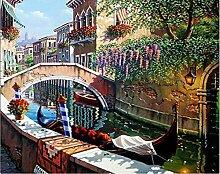 Brücke Diamant Malerei 5D DIY Fluss Voll Bohren