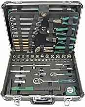 Brüder Mannesmann 29078 Werkzeugkoffer 160 tlg. Wasserwaage Säge Zange Werkzeuge Se