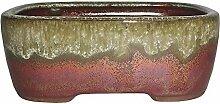 Brüsseler rechteckiger Bonsai-Topf aus glasierter