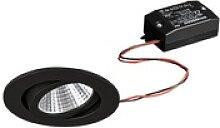 BRUMBERG LED-Einbaustrahler 38° rund schwarz 3000K
