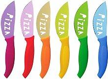 Brunch Time Pizzamesser 6er Set mehrfarbig