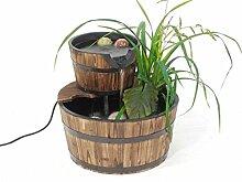 Brunnen Holzbottich doppelt /Gartenteich Holz mit