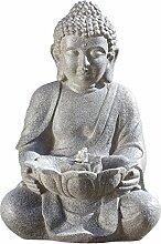 Brunnen Outdoor Buddha H45cm Material: Kunstharz