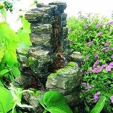 Brunnen Rennes aus Polyresin mit Licht Garten