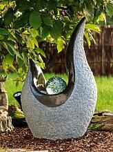 Brunnen Springbrunnen Gartenbrunnen mit Glaskugel FoPalla 84cm 10779
