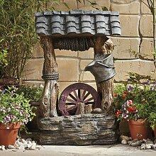 Brunnen Timmerman aus Polystein Garten Living