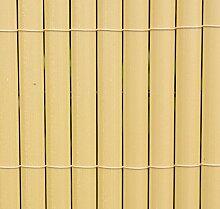 Brunnen und Mehr Sichtschutz Aus PVC, Bambusmatte,
