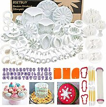 BSET BUY Backen Fondant Stempel Set, DIY 101tlg.